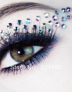 Punk Style Eye Rock Mix Match Crystal Eye Stickers Eyeliner Female Eye Shadow Stickers Tattoo Stickers With Diamond