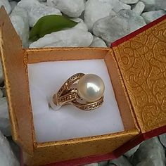 Gorgeous  Ring made of natural Pearl Very beautiful ring. Made of natural pearl. ..Don't Miss out on this beauty !!! Size 8 Jewelry Rings