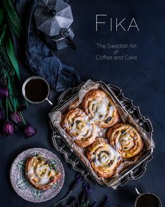 """Roz McIntosh on Instagram: """"This is some work I did recently on the theme of Fika, which is a Swedish term for coffee and cake. I love this word because it weaves in…"""""""