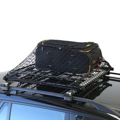 Basic Car Roof Tray Platform Rack Carry Box Luggage Carrier Basket + Cargo  Net Cover
