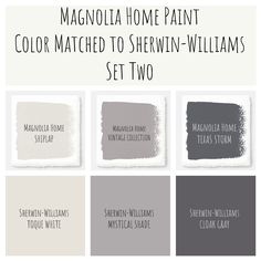 Joanna Gaines Magnolia Home paint color matched to Sherwin-Williams. Perfect modern farmhouse colors!