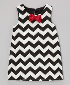 Take a look at this Black & White Zigzag Dress - Infant & Toddler by Caught Ya Lookin' on #zulily today!