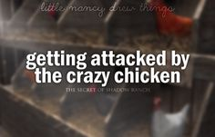 The Secret of Shadow Ranch - getting attacked by the crazy chicken