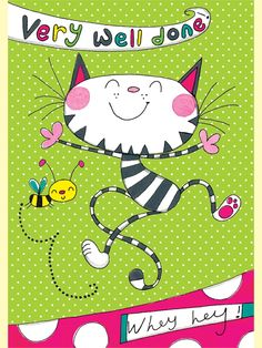 Rachel Ellen back to school card - very well done - cat