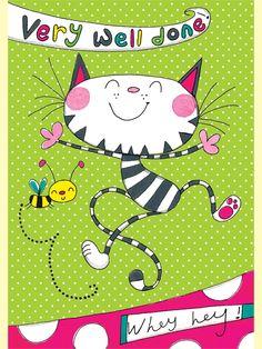 Rachel Ellen back to school card - very well done - cat