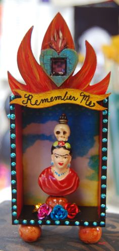 Small Day of the Dead Shrine honoring Frida Kahlo by MJChadbourne/Desert Dream Studios/All Rights Reserved/Copyright 2013