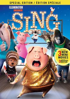 Sing (2016) ... Dapper Koala Buster Moon (Matthew McConaughey) presides over a once grand theater that has fallen on hard times. He takes one final opportunity to restore his fading jewel to its former glory by producing the world's greatest singing competition. Five contestants emerge: Mike (Seth MacFarlane) a mouse, Meena (Tori Kelly) a timid elephant, Rosita (Reese Witherspoon) a pig, Johnny (Taron Egerton) a gorilla and Ash (Scarlett Johansson) a punk-rock porcupine . (29-Apr-2017)