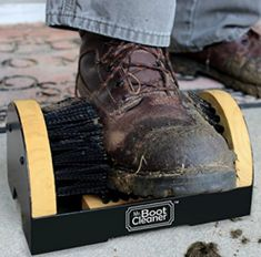 Boot Brush Cleaner Floor Mount Scraper Commercial With Hardware Indoor / Outdoor Buy Boots, Cool Boots, Boot Brush, Cool Doormats, Clean Machine, Clean Shoes, Brush Cleaner, On Shoes, Hiking Boots