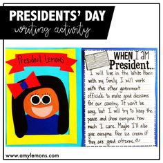 Students imagine themselves as Presidents and write about what they will do!