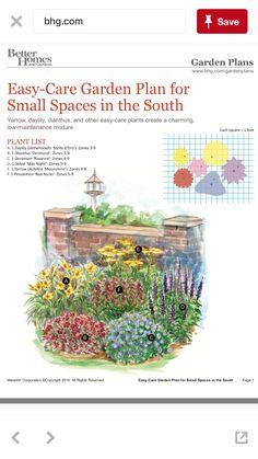 – Gardening Tips Perennial Garden Plans, Flower Garden Plans, Garden Shrubs, Garden Plants, Horticulture, Easy Care Plants, Landscape Plans, Garden Planning, Garden Projects