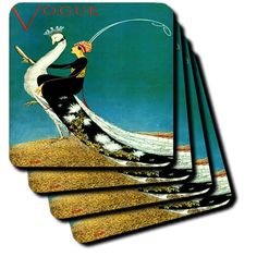 3dRose cst_174639_1 Image of Lady Riding a Peacockin Art Deco Style Soft Coasters, Set of 4 3dRose http://www.amazon.com/dp/B00IPRL5VS/ref=cm_sw_r_pi_dp_y4YMvb12S5JWA