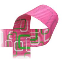 PRINTED RIBBON - Retro Rectangle - 7/8""