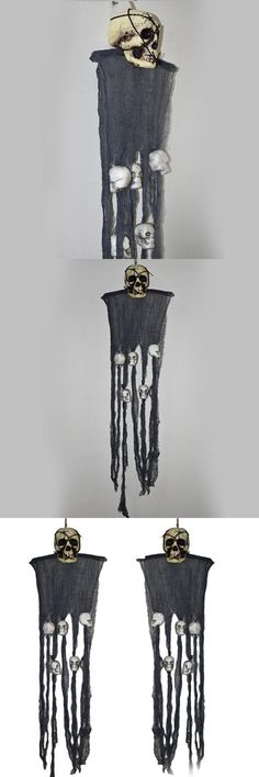 Funny Horrible Ghost Hanging Decoration Halloween Festival Party Supplies Halloween Bar Props-Color Random #halloweenpartysupplies