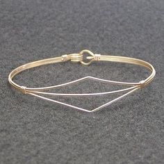 Delicate Design Gold Wire-Wrapped Bracelet on Etsy, $19.00