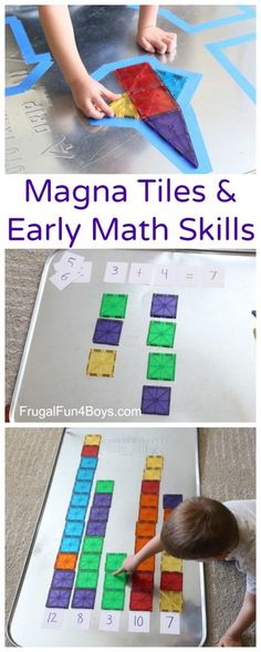 Four Math Games with Magna Tiles