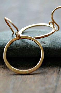 Small Gold Artist Hoop Earrings