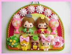 Felt Crafts Dolls, Felt Dolls, Mobiles, Toy Craft, Felt Art, Blog Entry, Kids Toys, Diy And Crafts, Decoration
