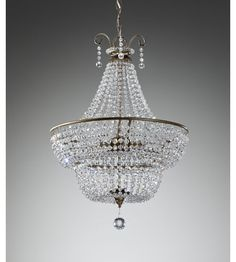 Feiss Dutchess 3 Light Chandelier in Burnished Silver F2743/3BUS #murrayfeiss $859