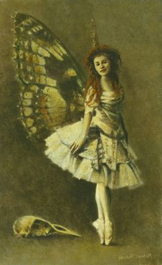 "Have to love this Victorian painting of a fairy en pointe. Painting, ""Victorian Gothic Fairy "" Now hanging in the Louise Ellerington Gallery Leicester. Gothic Fairy, Victorian Gothic, Michael Thomas, Vintage Fairies, Fairy Art, Illustrations, Looks Cool, Sculpture, Love Art"