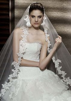 Velos de novia sin doble capa