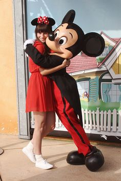 I have never taken a photo with Mickey. WE WILL BE DOING THIS! KATIE!