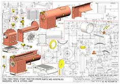 Technical Illustration, Technical Drawing, Live Steam Models, General Engineering, Steam Tractor, Steam Boiler, Islamic Wall Art, Model Train Layouts, Aircraft Design