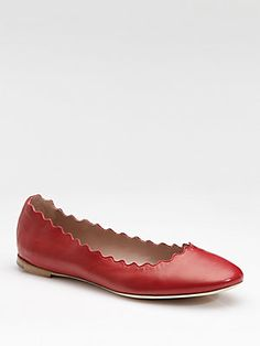 Chloé Scalloped Ballet Flats