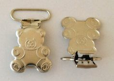 """25 Teddy Bear 1"""" inch Suspender Pacifier Holder Clips Cpsia Compliant Wholesale 
