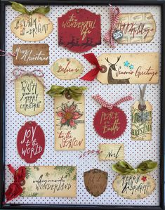 tim holtz - check out this great tag sample board created by paula cheney. (be sure to check out her blog for a chance to win a set of these)