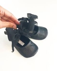 Toddler Girl Shoes Baby Girl Shoes Black Glitter shoes Soft Soled Shoes Glitter Shoes Rose Pink, Gold, Champagne Shoes  - Esme by LittlePoshBebe on Etsy https://www.etsy.com/listing/497156983/toddler-girl-shoes-baby-girl-shoes-black