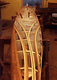 Getting Artistic With Strips Wood Canoe, Wooden Kayak, Canoe Boat, Kayak Boats, Canoe And Kayak, Sailing Boat, Boat Dock, Canoe Plans, Plywood Boat Plans
