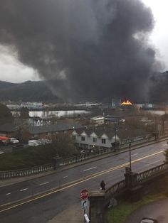 Portland Fire and Rescue reports that a fuel truck ran off the road and collided with eight parked railcars.