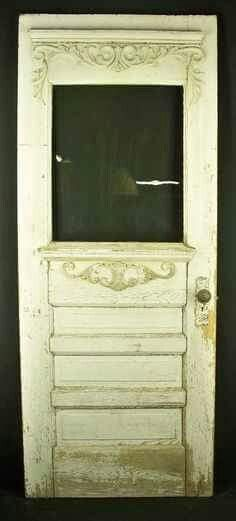 """*victorian front door* Similar to the """"old house"""" except not as ornate Victorian Front Doors, Victorian Porch, Folk Victorian, Victorian Farmhouse, Vintage Doors, Antique Doors, Old Doors, Victorian Homes, Windows And Doors"""