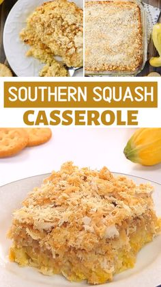 A delicious and comforting side dish with tender yellow squash, cheese, and sour cream topped with buttery crackers! This fabulous yellow Squash Casserole is a tasty and delicious family-pleasing way to cook up some yellow squash. Save this pin for later! Easy Squash Casserole, Southern Squash Casserole, Yellow Squash Casserole, Vegetable Casserole, Casserole Recipes, Cooking Yellow Squash, Yellow Squash Recipes, Summer Squash Recipes, Yellow Squash And Zucchini