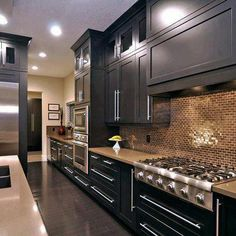 If you want a luxury kitchen, you probably have a good idea of what you need. A luxury kitchen remodel […] Black Kitchens, Luxury Kitchens, Cool Kitchens, Kitchen Black, Nice Kitchen, Awesome Kitchen, Dream Kitchens, Long Kitchen, Rustic Kitchen