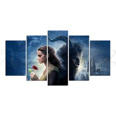 Beauty And The Beast Romantic Fantasy Canvas Print Gift 5