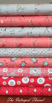 Folk Tale - Half Yard Bundle In Melon and Grey 9 fabrics for $42