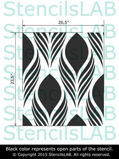"""This floral stencil allow you to invoke the elements of nature to easily transform any room into a space of beauty and serenity. Try to use our stencils! Stencil size: 20.5""""W x 23.5""""H NOTE: This is a"""