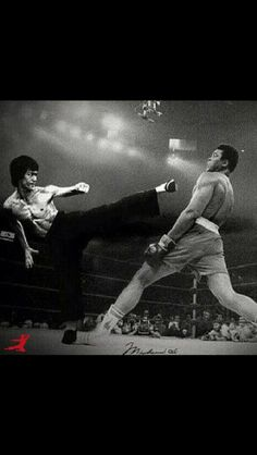 Bruce lee and Ali. Amazing.