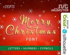 MERRY CHRISTMAS FONT svg Script Alphabet svg Vine letter Cutting Files for Vinyl Cutter heat press cameo Cricut Heat transfer Silhouette 115 by SVGmonster on Etsy