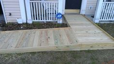 Wheelchair Ramp - Traditional - Deck - Charleston - by . Porch With Ramp, Pictures Of Porches, Compass Homes, Porch Extension, Handicap Ramps, Walker House, Ramp Design, Victorian Porch, Wheelchair Ramp
