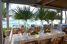 A modern, Caribbean wedding setting at Viceroy Anguilla.
