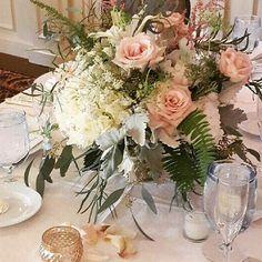 Pastels for spring. Call us to book ur wedding consultation 609-646-4119  #wedding #weddings2016 #weddingday #southjerseyweddings #southjerseyweddingflorist #gallowayweddingflorist #instawed #centerpieces #pastelroses #dustymiller #dvflora #romanticwedding #doac #ecoflowers #onruffled #bridebookflowers #accentdecor #hydrangea #booknow #candles #design #flowersforweddings #knotweddings by betinas