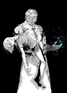 Dead by Daylight Doctor with Feng Art by Kawarayane Horror Art, Horror Movies, Horror Icons, Character Drawing, Character Design, Cyberpunk, Horror Video Games, Fan Art, Michael Myers