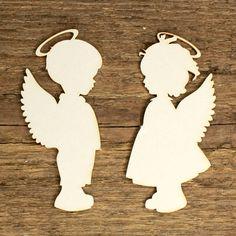 Jemná ozdoba andělíčci, svatební nebo z lásky