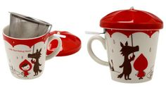 Little Red Riding Hood Mug Cup & tea Strainer & Umbrella Lid