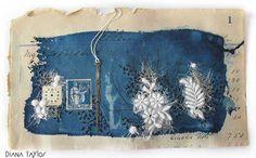 Midnight Garden mixed media collage - 'Time' by Velvet Moth Studio