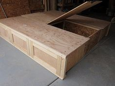King Size Bed Frame With Drawers Plans king size bed frame with drawers plans images about diy woodworking california king platform bed. bed with storage under, king size beds and beds with storage on. how to build king size storage bed plans pdf kids. Bed Frame With Drawers, Bed Frame With Storage, Under Bed Storage, Small Storage, Storage Beds, Underbed Storage Ideas, Diy Bedframe With Storage, Bedding Storage, Bedroom Storage