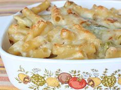 Shredding Brussels sprouts and adding them to a creamy cheese sauce adds a hint of roasted flavor to a favorite baked pasta dish -- and. Cheap Pasta Recipes, Cheap Meals, Veggie Recipes, Crockpot Recipes, Cooking Recipes, Veggie Meals, Healthy Dinners, Yummy Recipes, Vegetarian Recipes