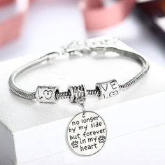 """ExtraShop - Buy Crystal Love Heart Charms Chain Bangle Special Grandma Bracelet Gift Women Family Nanny Nana Grandmother Jewelry Gifts"""" for only USD. Heart Bracelet, Bangle Bracelets, Bangles, Bracelet Charms, Silver Bracelets, Silver Jewelry, Silver Rings, Mother Of The Groom Bracelets, Grandmother Jewelry"""